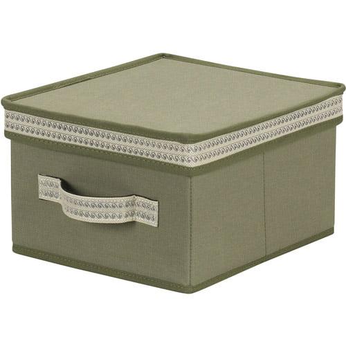 Household Essentials Medium Storage Box with Decorative Trim