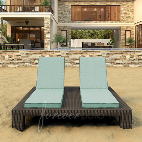 Forever Patio Hampton Double Chaise Lounge with Cushion