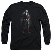 Supergirl Supergirl Noir Mens Long Sleeve Shirt