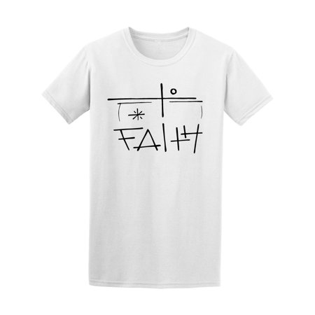 - Christian Faith Religious Cross Tee Men's -Image by Shutterstock