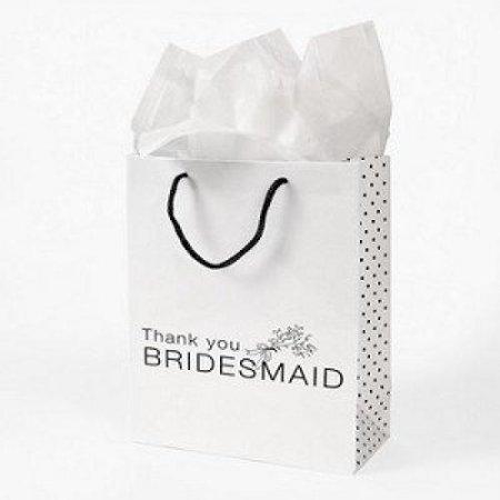 Wedding Gift Bags Walmart : ... Thank You Bridesmaid Wedding Bridal Party Gift Bags - Walmart.com