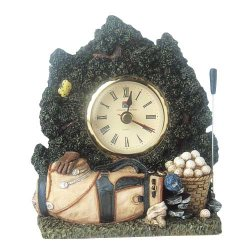 Character Collectibles Country Club Classics GF12659 Golf Clubs Clock by Vanmark Fine Gifts by Design