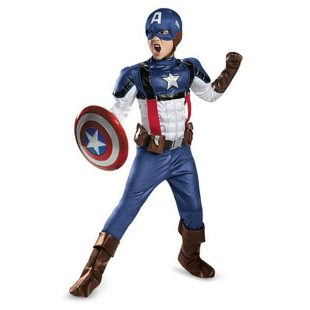Boys Retro Captain America Prestige Costume - Boys Retro