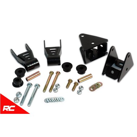 Rough Country Front Shackle Reversal Kit Fits 1987-1996 [ Jeep ] Wrangler YJ 1/2