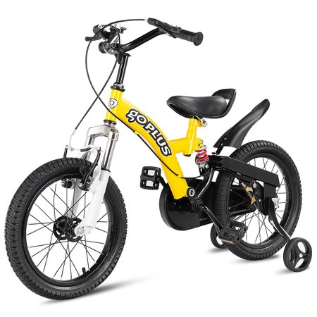 Costway 16'' Kids Bicycle Outdoor Sports Bike W/ Training Wheel Brakes Boys Girls Cycling