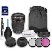 Canon EF 24-105mm f/4L IS USM Lens + Original Canon Lens Hood EW-83H + Lens Cap + Original Canon Lens Bag + 3 PC Filter Kit + Lens Pen + Dust Blower + Cleaning Cloth