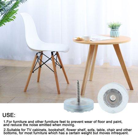 4pcs Rubber Feet Insert Metal Washer w Screws Furniture Leg Floor Protector 25mm - image 4 of 7