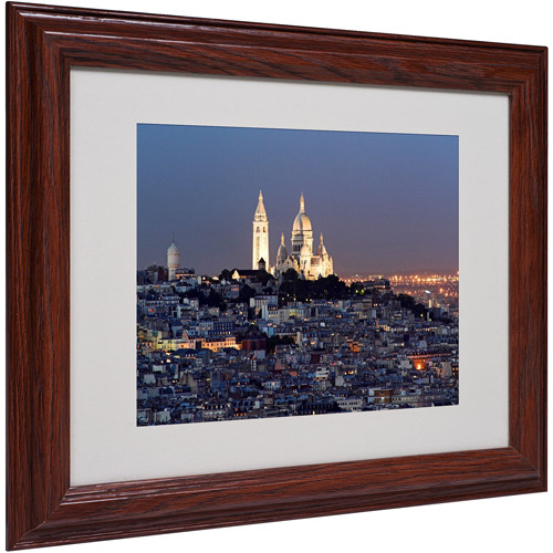 "Trademark Fine Art ""Butte Montmartre"" Matted Framed Art by Pierre Leclerc"