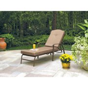 Mainstays Woodland Hills Chaise Lounge, Brown