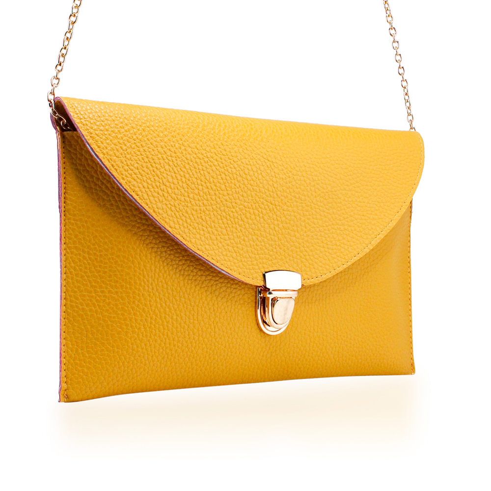 Fashion Women Handbag Shoulder Bags Envelope Clutch Crossbody Satchel Purse Leather Lady Messenger Hobo Bag - Yellow