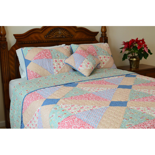 J&J Bedding Angie Patchwork Reversible Quilt