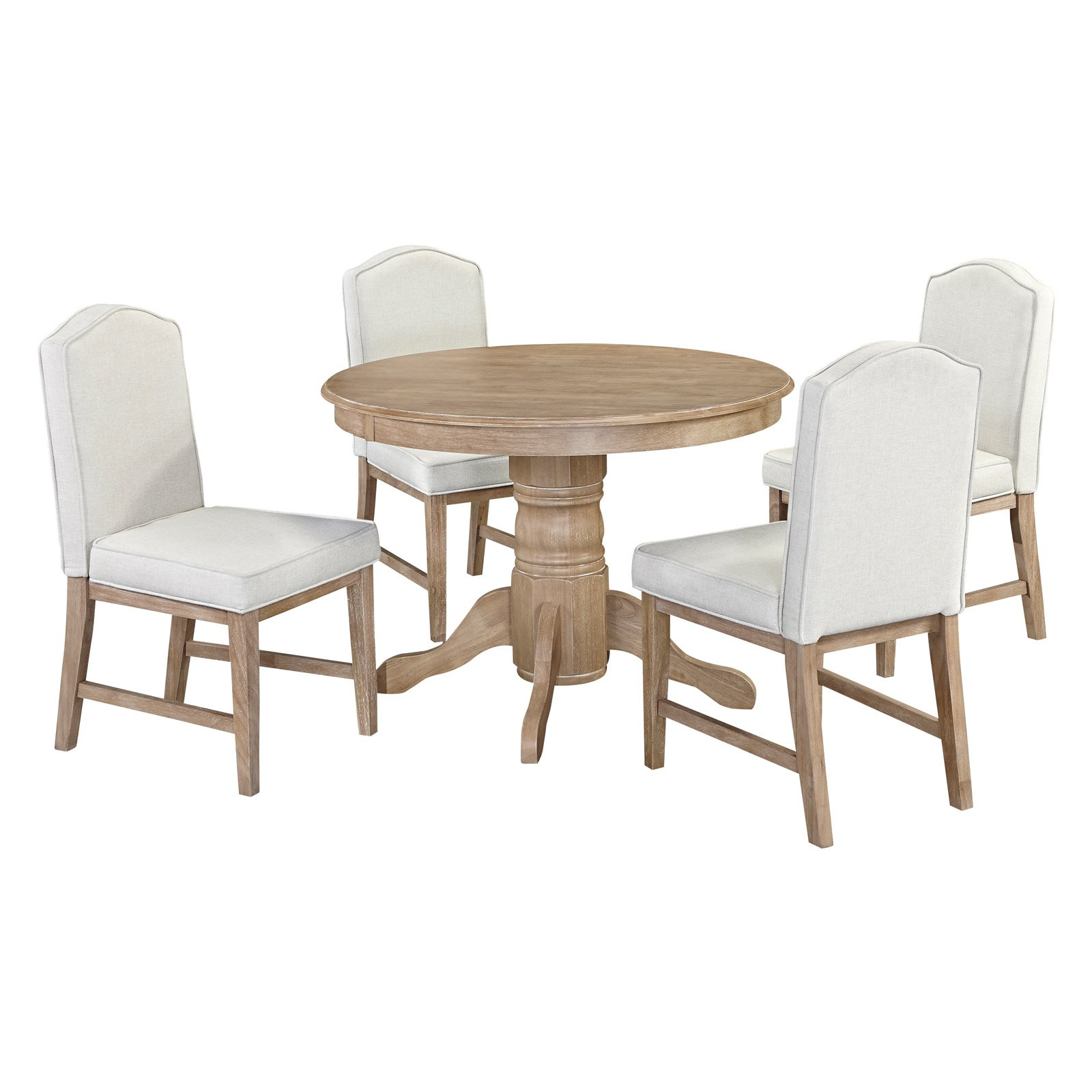Home Styles Classic 5-Piece Dining Set with Upholstered Dining Chairs