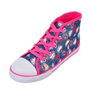 Hello Kitty Girls' Hi-Top Sneakers (Youth Sizes 13 - 3)