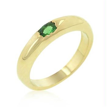 Green Oval Simple Ring, Size : 04 - image 1 of 1