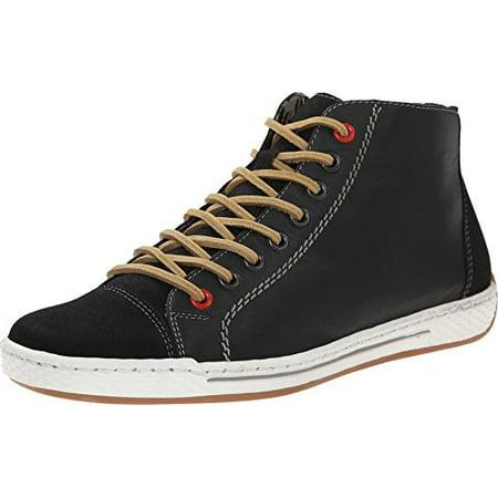 Rieker Women's L3001 Anika 01 Black/Black Sneaker 37 (US Women's 6.5) M ()