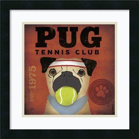 Amanti Art 'Pug Tennis Club' by Stephen Fowler Framed Graphic Art