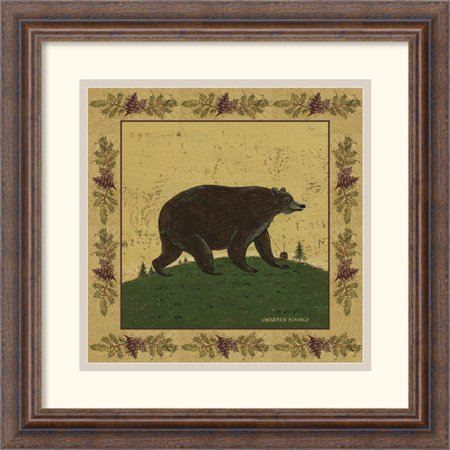 Amanti Art 'Folk Bear' by Warren Kimble Framed Painting Print