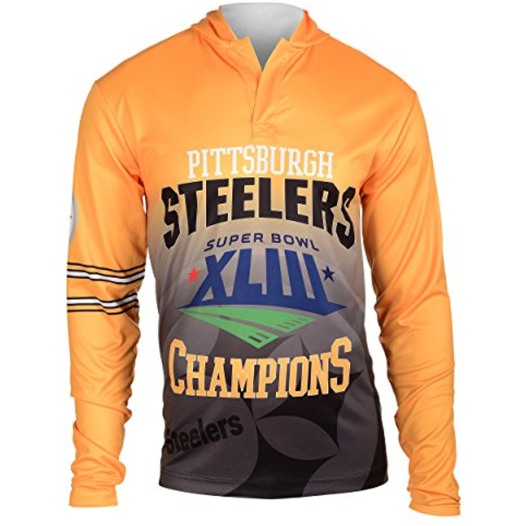 NFL Pittsburgh Steelers Super Bowl XLIII Champions Hoody Tee, Large