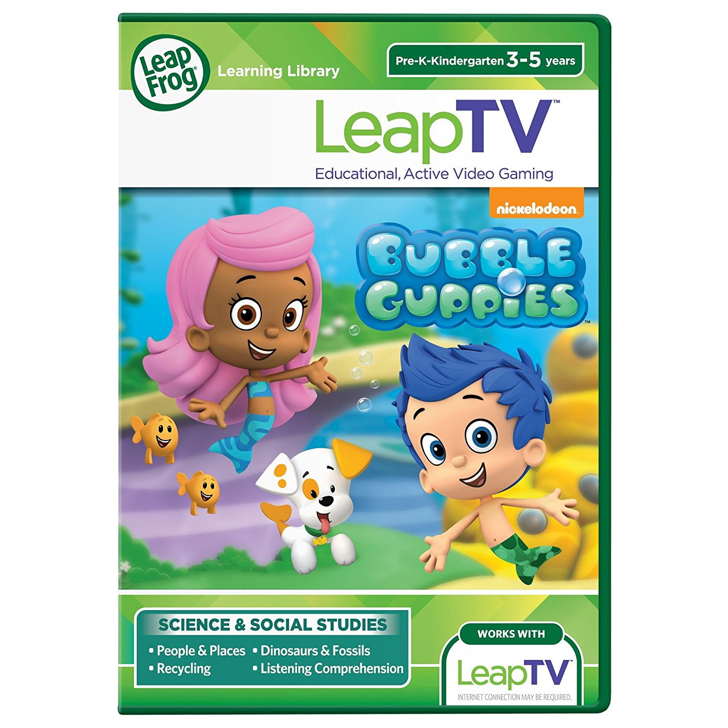 LeapFrog LeapTV Nickelodeon Bubble Guppies Educational, Active Video Game by