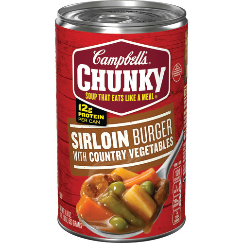 Campbell's Chunky Sirloin Burger with Country Vegetables Soup, 18.8 oz.