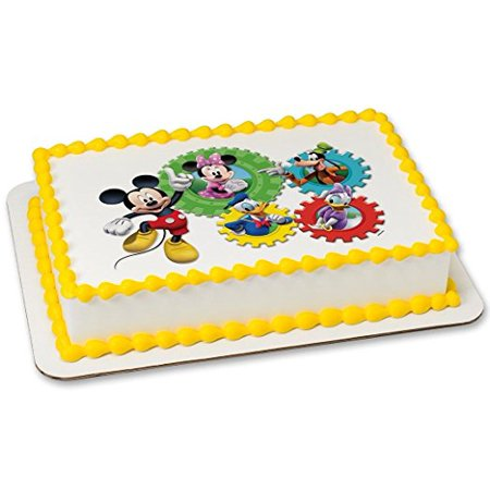 Mickey Mouse Clubhouse Edible Image Cake Mickey Minnie Donald Daisy Goofy Topper Birthday Kids Party](Micky Mouse Cake)