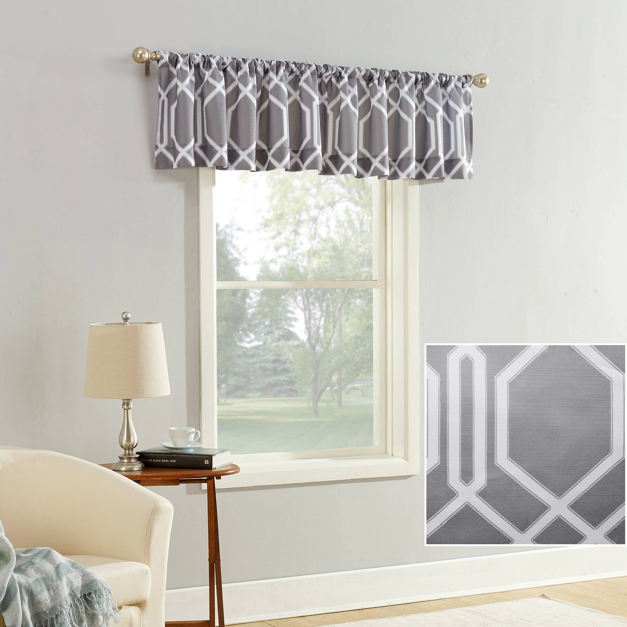 Mainstays Watson Textured Valance Curtain
