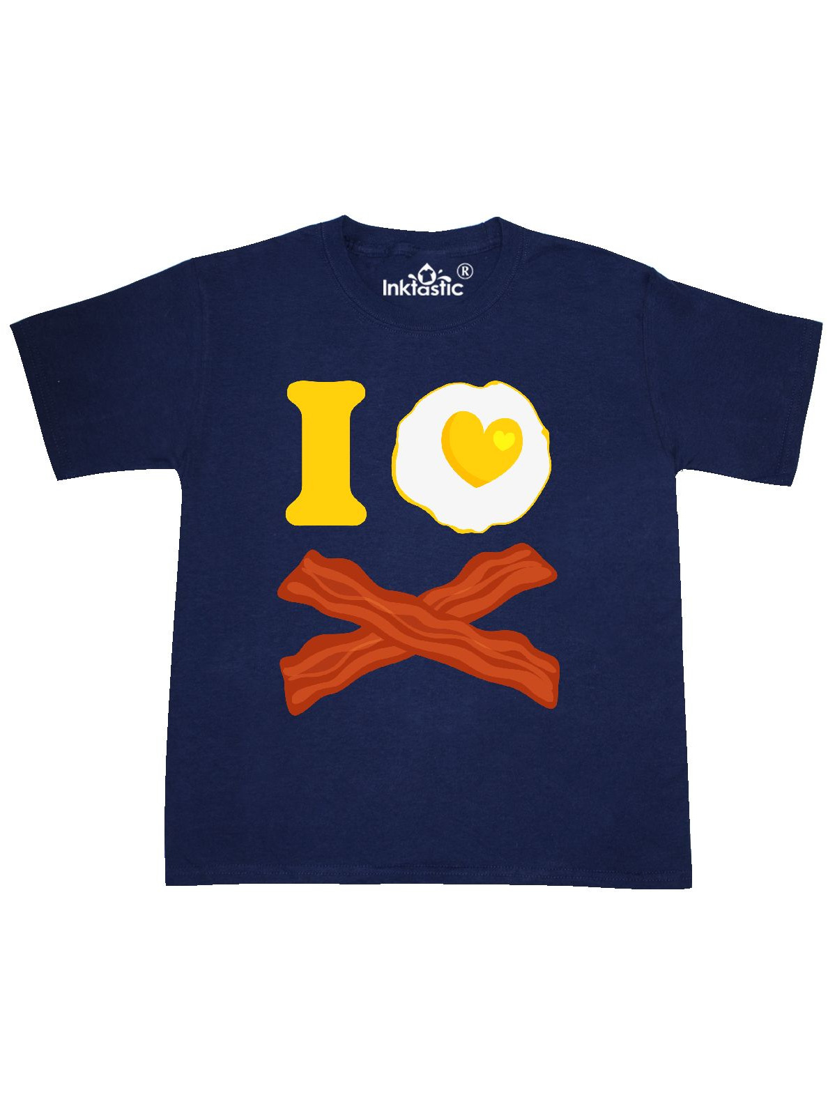 I Love Bacon And Eggs Youth T-Shirt