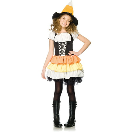 Kandy Korn Witch Child Halloween Costume - Half Witch Halloween Makeup