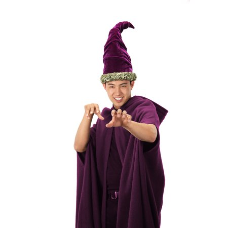 Fancy Wizard Tall Purple Adult Costume Hat](Wizard Hat)