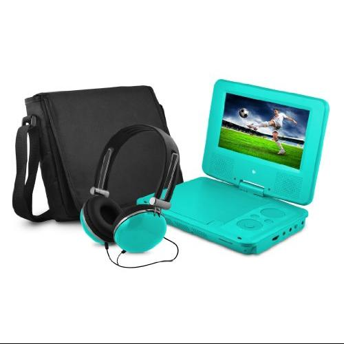 "Ematic Epd707 Portable Dvd Player - 7"" Display - 480 X 234 - Teal - Dvd-r, Cd-r - Jpeg - Dvd Video, Video Cd, Mpeg-4 - Cd-da, Mp3 - 1 X Headphone Port[s] - Lithium Polymer - 2 Hour (epd707tl)"