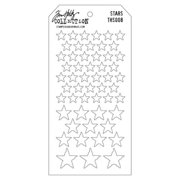 Stampers Anonymous Tim Holtz Layered Stencil 4.125  X8.5   - Stars
