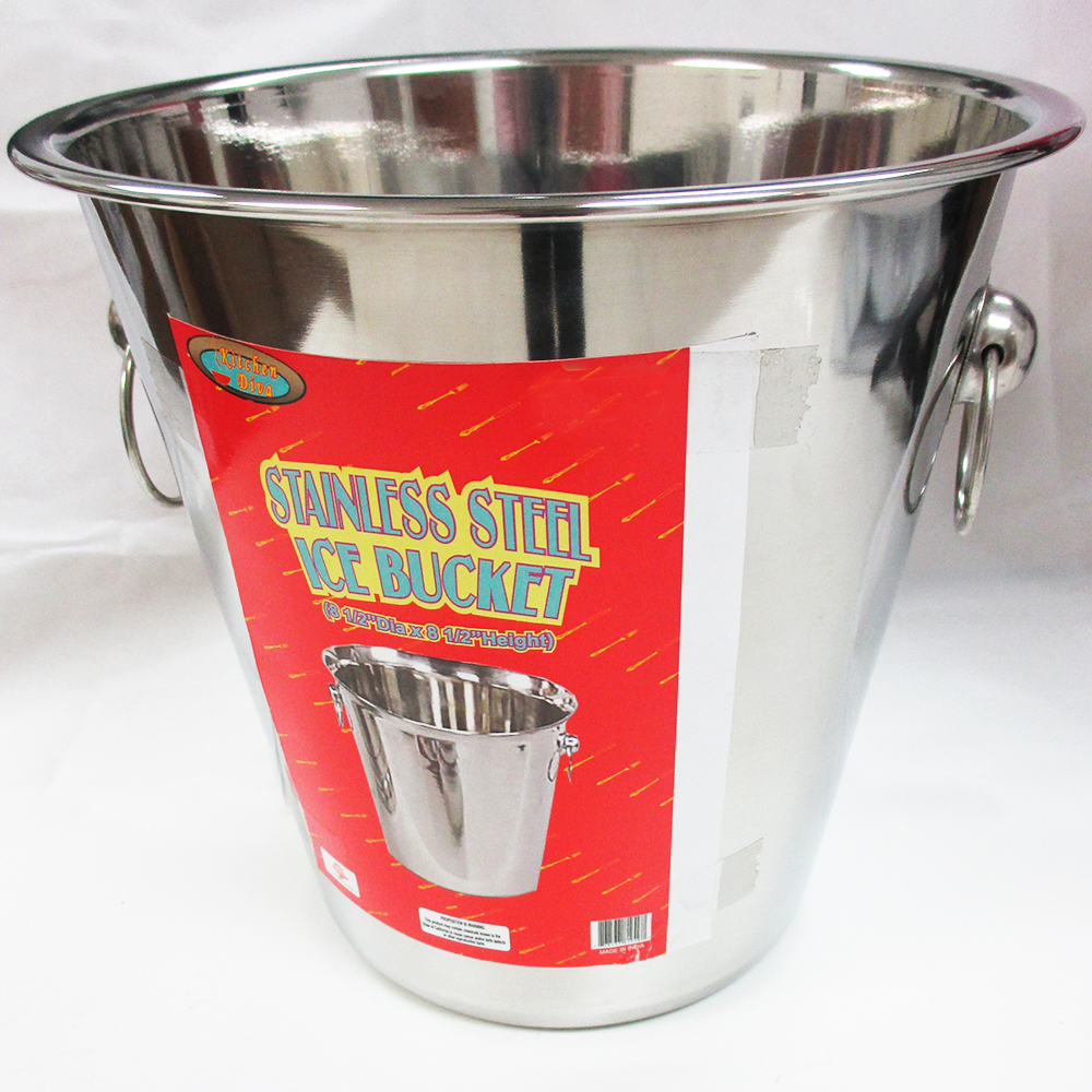 1 Stainless Steel Ice Bucket Cooler Wine Champagne Bar Beer Cooler Handle Party