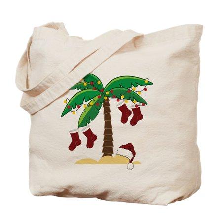 CafePress - Tropical Christmas - Natural Canvas Tote Bag, Cloth Shopping Bag - Cloth Tote Bags