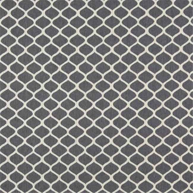 Designer Fabrics K0008B 54 in. Wide Cadet Blue And Off White, Modern, Geometric, Designer Quality Upholstery Fabric