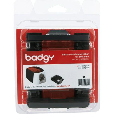 Badgy CBGR0500K Black ID Card Printer Ribbon, 8 in.