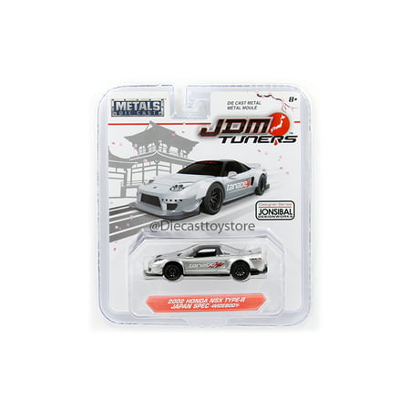 - JADA 1:64 METALS - JDM TUNERS - 2002 HONDA NSX TYPE-R JAPAN SPEC - WIDEBODY DIECAST TOY CAR 99142-MJ