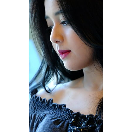 Framed Art For Your Wall Beautiful Face Girl Asian Girl Makeup Beautiful 10x13 - Beautiful Asian Girls