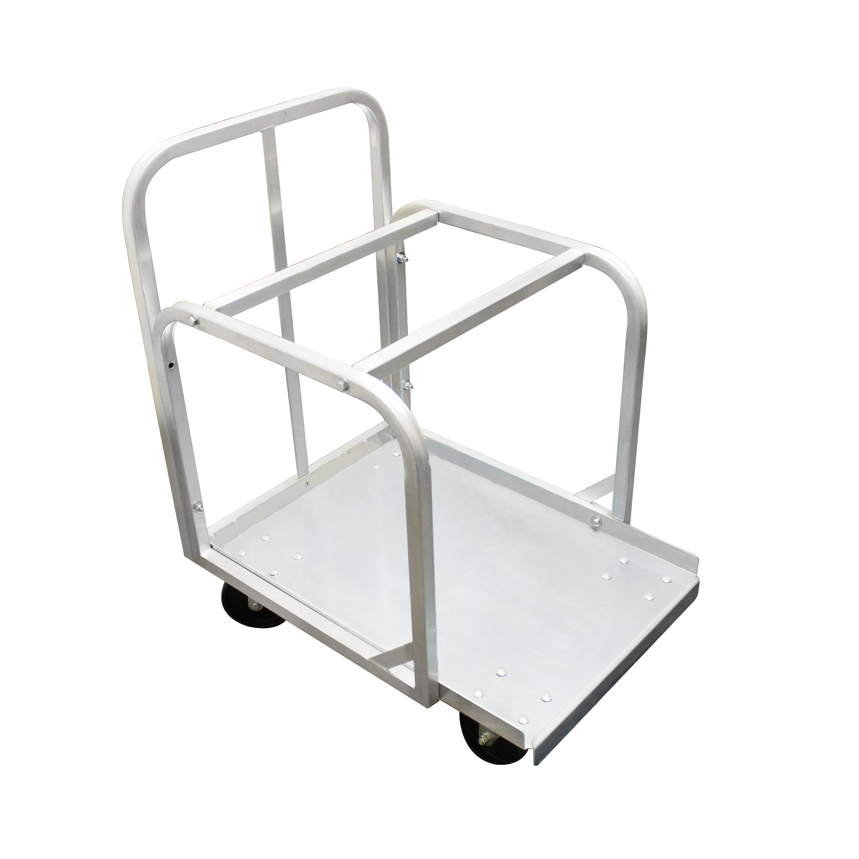 Full Size Aluminum Sheet Pan Truck With 4 Of 5 Swivel Casters