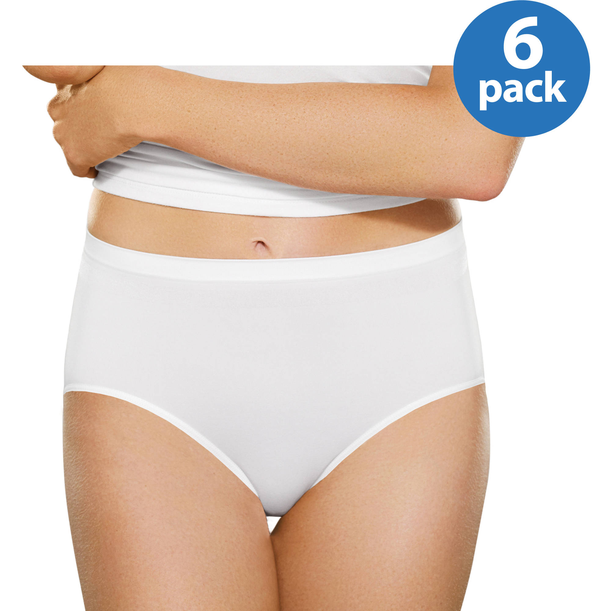 Fruit of the Loom Ladies' 6pk Seamless Brief