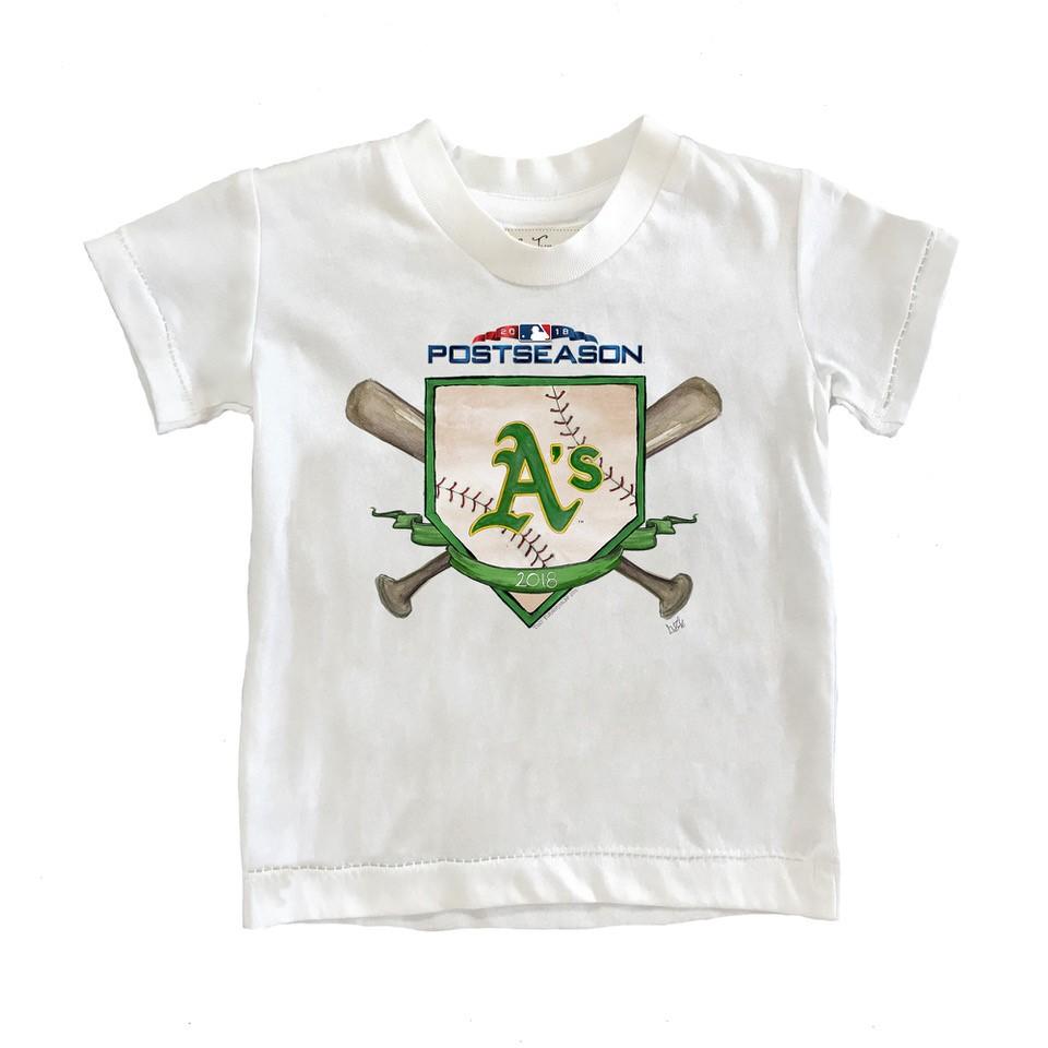 Oakland Athletics Tiny Turnip Toddler 2018 Postseason T-Shirt - White
