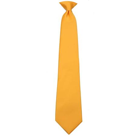 Mens Solid Color Clip On Easy to Remove Clip Necktie Ties Black Tie Gourmet