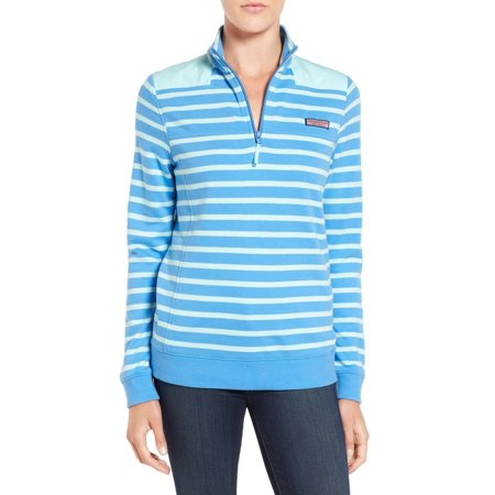 Vineyard Vines Womens Stripe Shep Shirt Cornflower  125 New With Tags Cornflower Regular M