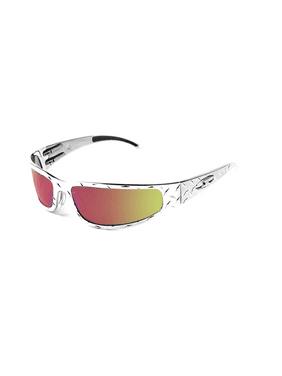 ICICLES Baby Bagger Orange Mirror Lens Sunglasses with Chrome Diamond Frame