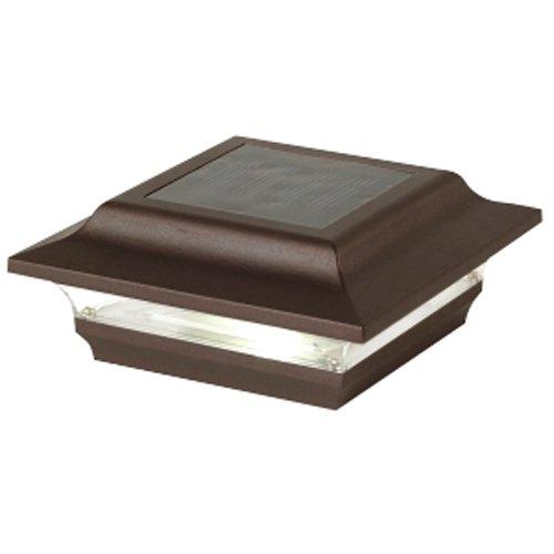 Classy Caps 4 x 4 in. Bronze Aluminum Imperial Solar Post Cap