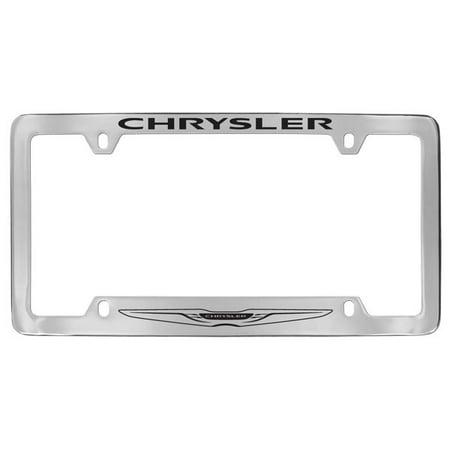 Chrysler Logo Chrome Plated Metal Bottom Engraved License Plate Frame Holder ()