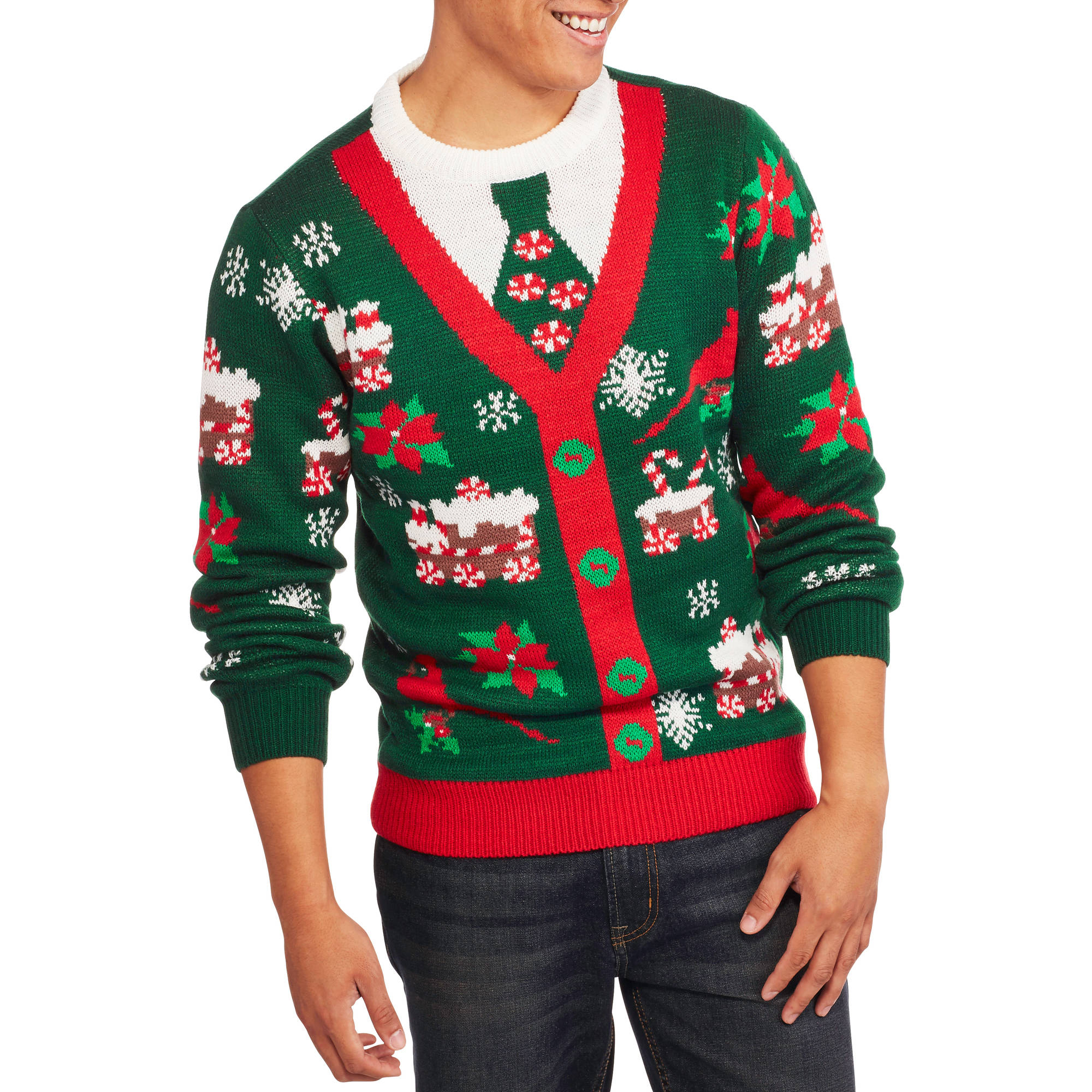 Christmas Button Cardigan Men's Ugly Sweater