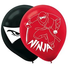 Happy Birthday 'Ninja' Latex Balloons (6ct)
