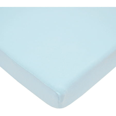 American Baby Company 100% Cotton Value Jersey Knit Fitted Portable/Mini-Crib Sheet, Blue