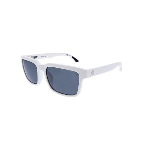 Spy Sunglasses 673520396352 Helm 2 Scratch Resistant Lenses Square Shape, Matte White ()