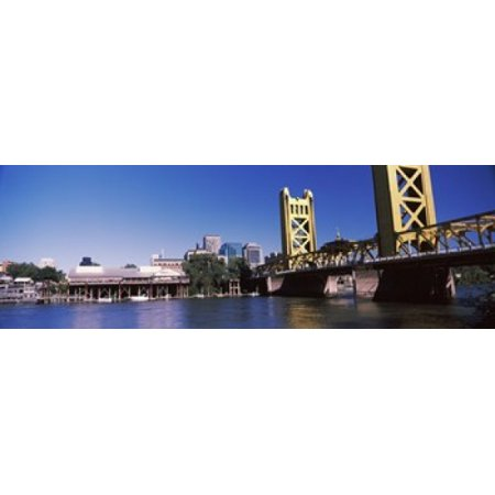 Tower Bridge Sacramento CA USA Canvas Art - Panoramic Images (18 x (Edward A Smith Law Offices Sacramento Ca)